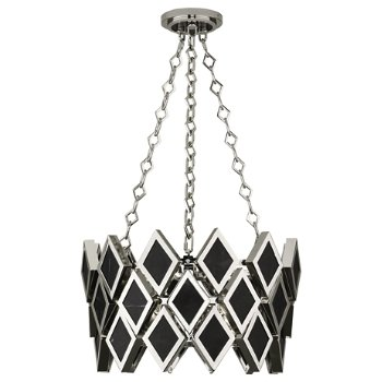 Shown in Black Marble with Polished Nickel finish, 18 inch