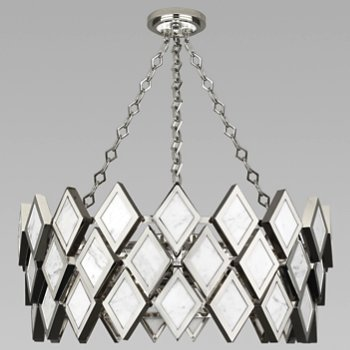 Shown in White Marble with Polished Nickel finish, 26 inch