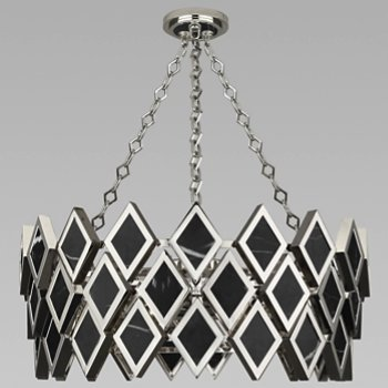 Shown in Black Marble with Polished Nickel finish, 26 inch