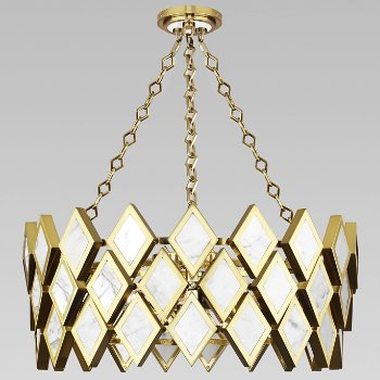 Shown in White Marble with Modern Brass finish, 26 inch