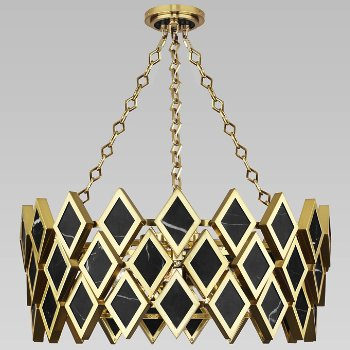 Shown in Black Marble with Modern Brass finish, 26 inch