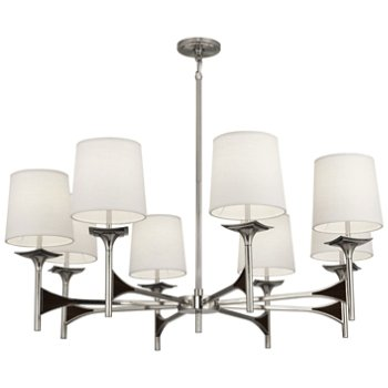 Shown in Polished Nickel with Dark Walnut accents