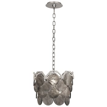 Shown in Polished Nickel with Smoky Rock Crystal finish