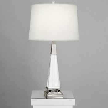 Shown in Pearl Dupioni shade with Polished Nickel finish, Large size