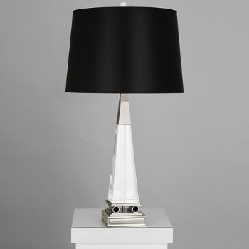 Shown in Black Opaque Parchment shade with Polished Nickel finish, Large size