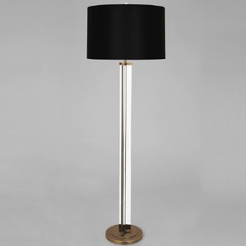 Shown in Black Opaque Parchment shade, Modern Brass finish
