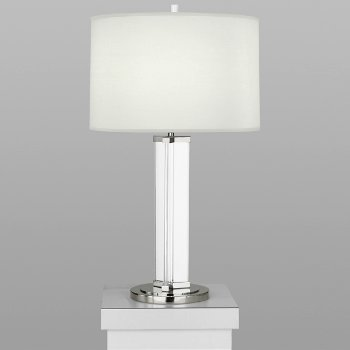Shown in Polished Nickel w/ Ascot White Shade