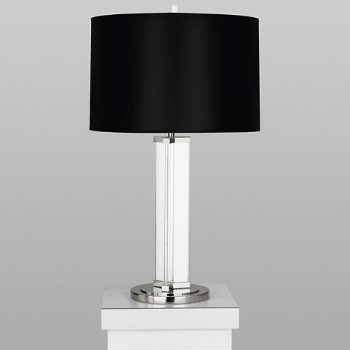 Shown in Polished Nickel w/ Black Opaque Shade
