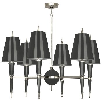 Shown in Ash with Ash Parchment shade with Polished Nickel finish