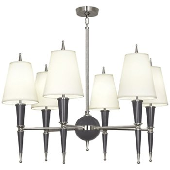 Shown in Ash with Fondine Fabric shade with Polished Nickel finish