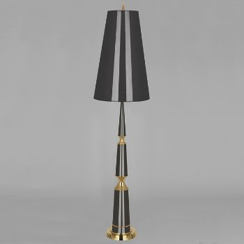 Shown in Cobalt with Cobalt Parchment Shade, Modern Brass finish