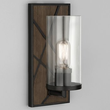 Shown in Smoked Walnut Wood with Deep Patina Bronze finish, Clear glass color
