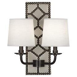 WILLIAMSBURG Lightfoot Wall Sconce (White/Bronze) - OPEN BOX