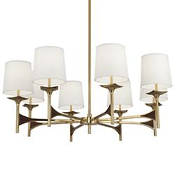 Trigger Chandelier (Modern Brass/Walnut) - OPEN BOX RETURN