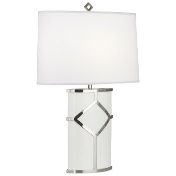 Shown in White Paint with Polished Nickel Accents