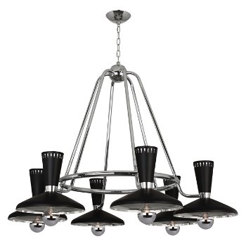 Shown in Polished Nickel,  6 LIght