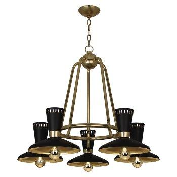 Shown in Modern Brass, 5 light