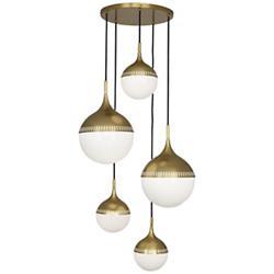 Rio Multi-Light Pendant (Antique Brass/5 Lights) - OPEN BOX