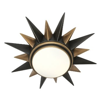 Shown in Deep Patina Bronze with Warm Brass finish