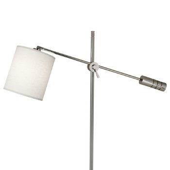 Shown in Polished Nickel finish, Oyster Linen Shade, Detail view