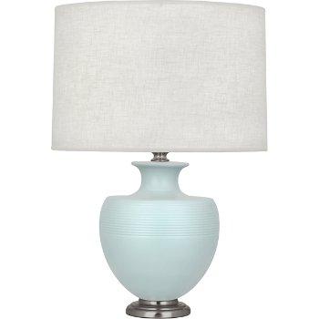 Shown in Matte Sky Blue Glazed Ceramic with Dark Antique Nickel accent finish