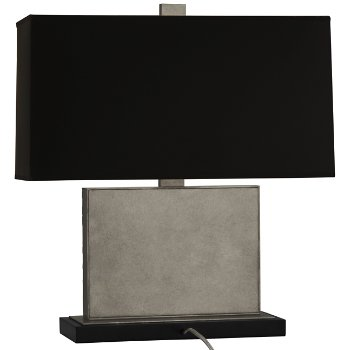 Shown in Black Opaque Parchment Shade Color with Antiqued Polished Nickel finish