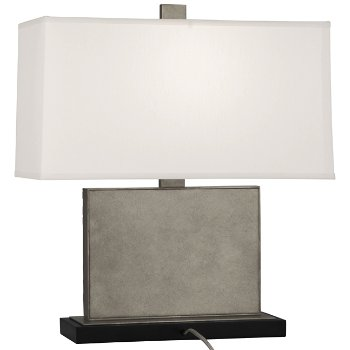 Shown in Pearl Dupioni Silk Shade Color with Antiqued Polished Nickel finish