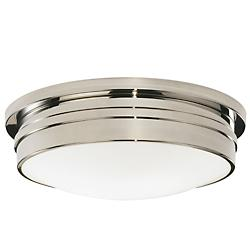 Roderick 13-Inch Flush Mount (White/Nickel/Med) - OPEN BOX