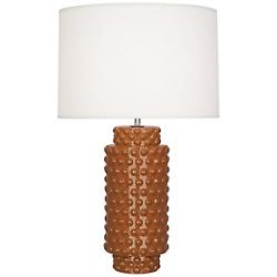Dolly Table Lamp (Cinnamon Glazed Textured Ceramic)-OPEN BOX