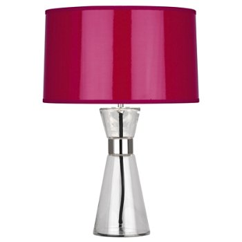 Magenta Ceramik Parchment Shade with Silver Mylar Lining, Small size