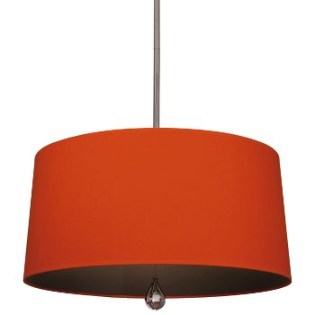Shown in William of Orange Shade with Revolutionary Storm Interior, Modern Brass finish