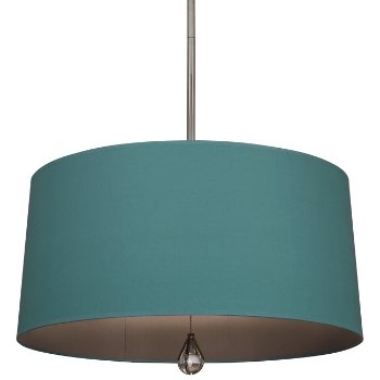 Shown in Mayo Teal Shade with Carter Grey Interior, Polished Nickel finish