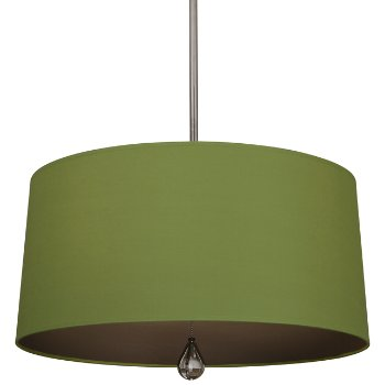 Shown in Parrot Green Shade with Revolutionary Storm Interior, Polished Nickel finish