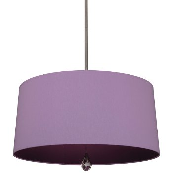 Shown in Ludwell Lilac Shade with Greenhow Grape Interior, Polished Nickel finish
