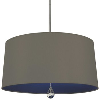 Shown in Carter Grey Shade with Ink Blue Interior, Polished Nickel finish