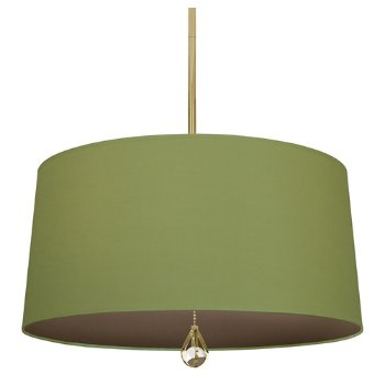 Shown in Parrot Green Shade with Revolutionary Storm Interior, Modern Brass finish