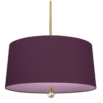 Shown in Greenhow Grape Shade with Ludwell Lilac Interior, Polished Nickel finish