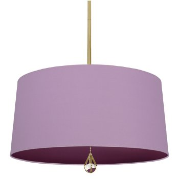 Shown in Ludwell Lilac Shade with Greenhow Grape Interior, Modern Brass finish
