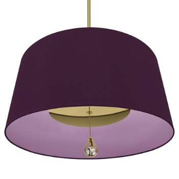 Shown in Greenhow Grape Shade with Ludwell Lilac Interior, Polished Nickel finish, lit