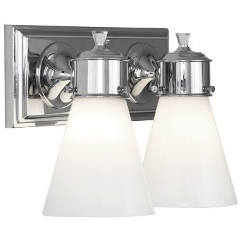 Shown in Polished Chrome finish, 2 Light