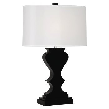 Black Lead Crystal w/ Polished Nickel Accents, White Organza shade