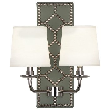 Shown in Carter Gray color, Polished Nickel finish