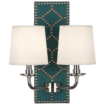Shown in Mayo Teal color, Polished Nickel finish