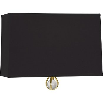 Shown in Blacksmith Black Shade with Richmond Red Interior, Modern Brass finish