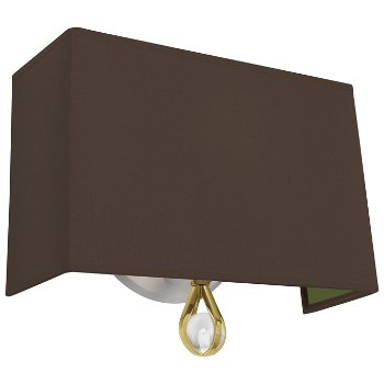 Shown in Revolutionary Storm Shade with Parrot Green Interior, Modern Brass finish