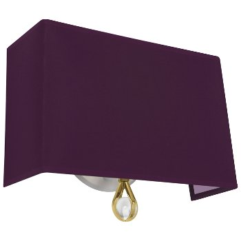Shown in Greenhow Grape Shade with Ludwell Lilac Interior, Modern Brass finish
