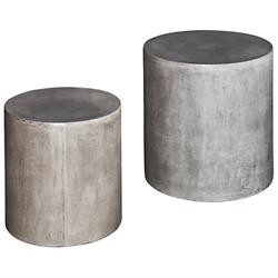Una Pedestals - Set of 2 (Natural Grey) - OPEN BOX RETURN
