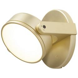 Monocle LED Wall Sconce (Gold/Flat Lens) - OPEN BOX RETURN
