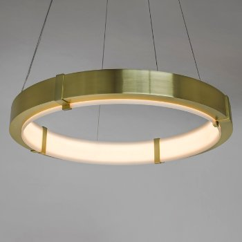 Shown in Brushed Brass finish, Small size