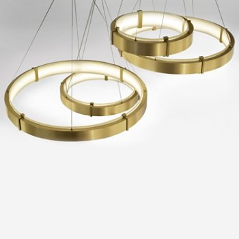Shown in Brushed Brass finish, Small, Medium size